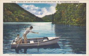 Fishing In Lake At Hungry Mother State Park Southwestern Virginia