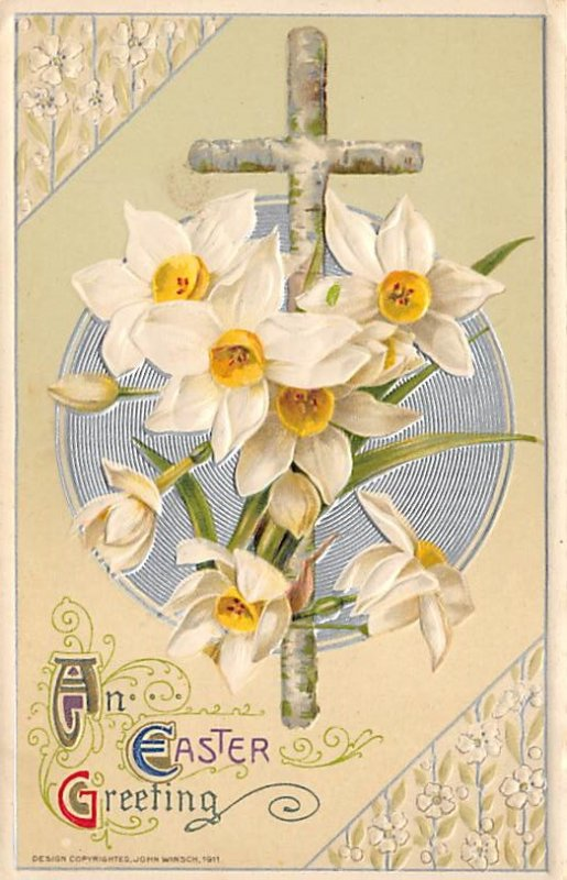 Holiday Easter Post Card Old Vintage Antique Writing on back