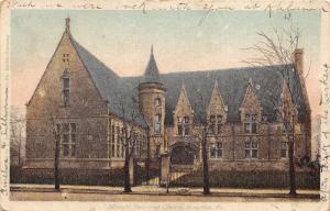 Scranton Pennsylvania~Albright Memorial Library~Iron Fence~1906 Postcard