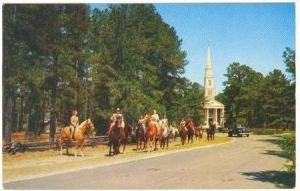 Horse Riding Party, Village Chapel, Pinehurst, North Carolina, PU-1960