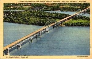 Maryland New Susquehanna River Bridge Between Havre De Grace and Perryville C...