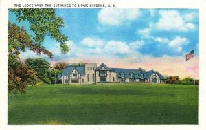 HOWE CAVERNS NEW YORK THE LODGE OVER THE ENTRANCE TO POSTCARD