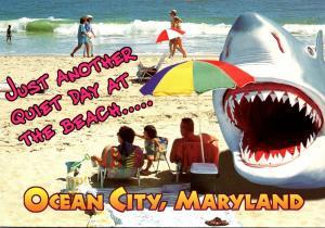 Maryland Ocean City Beach Scene