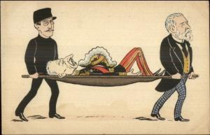 French Political Cartoon GENERAL LOUIS ANDRE on Stretcher