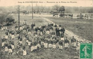 France Camp de Chambaran Isere Manoeuvres sur le Plateau des Monettes 01.61