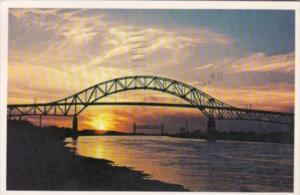 Massacusetts Cape Cod Sunset Over Cape Cod Canal