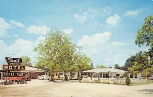 Lawtey Florida Trail Motel and Restaurant Swimming Pool Vintage Postcard J73903