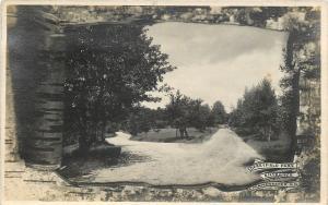 Manchester New Hampshire~Derryfield Park Entrance~Birch Bark Peel Back~1915 RPPC