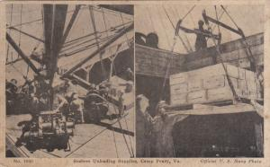 2-Views, Seabees Unloading Supplies, Camp Peary, Virginia, 10-20s