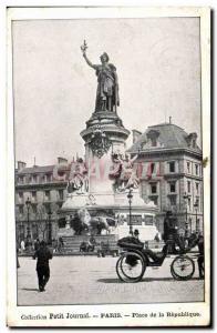 Paris Old Postcard Place de la Republique