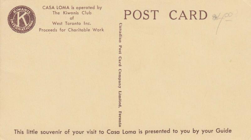 CASA LOMA , TORONTO, Ontario , 30-50s Tour Guide #5