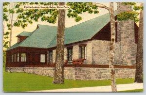 Sam A Baker State Park-Des Arc-Patterson MO~Dining Lodge~Fireplace Chimney~1940s