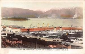 6486  B.C. Vancouver  Canadian Pacific Railway Co´s Docks,