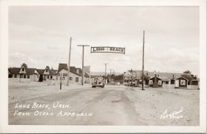 Long Beach WA Washington Pacific View Cottages Unused Ferguson RPPC Postcard F81