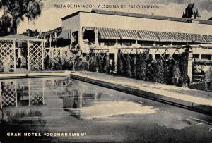 Cochabamba Bolivia Gran Hotel Cochabamba Swimming Pool Antique Postcard J76310