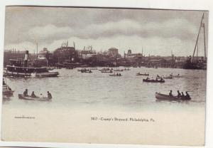 PC43 JLs postcard 1903 pm boats tugboats cramps shipyard pa