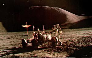 Florida John F Kennedy Space Center Astronaut Irwin and Rover On Moon's ...