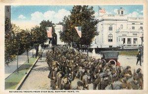 LP71   Military Newport News Virginia Postcard WWI Troops returning