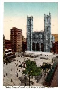 Montreal  Notre Dame Church and Place d'Armes