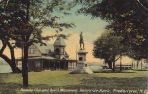 Boating Club & Burns Monument, Riverside Park, Fredericton, New Brunswick, Ca...
