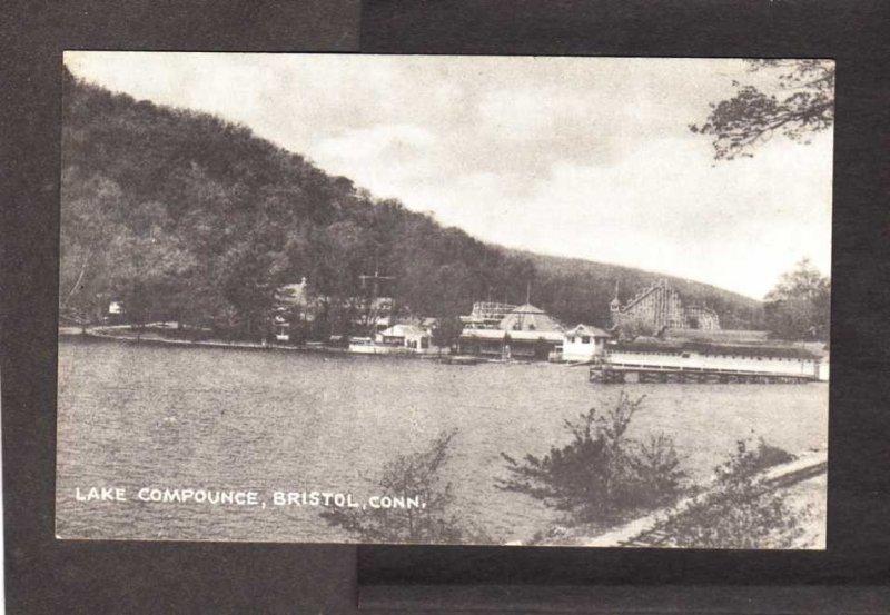 CT lake Compounce Camps Cottages Bristol Connecticut Postcard Conn PC