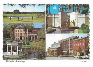 New York Saratoga Springs Multi View Golf Course Hotels Vtg NY Postcard 4X6