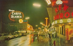 NUEVO LAREDO , Mexico, 40-60s ; Avenida Guerrero at night
