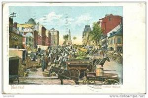 Canada, Montreal, Jacques Cartier Market 1905 used Postcard