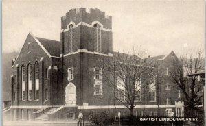 1940s Baptist Church Harlan Kentucky Postcard