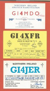 QSL AMATEUR RADIO CARDS – NORTHERN IRELAND – 3 DIFFERENT – 1980-1982 (1)