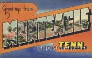 Monteagle, TN, USA Large Letter Town Postcard Post Card Old Vintage Antique  ...