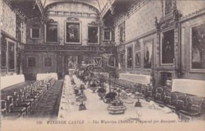 England Windsor Castle The Waterloo Chamber Prepared For A Banquet