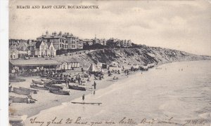 BOURNEMOUTH, Dorset, England, PU-1906; Beach And East Cliff, Row Boats On The...