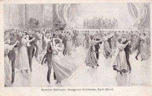 Summer Ballroom Hungarian Exhibition Earls Court London Old Postcard