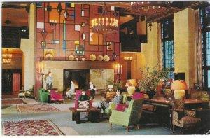 1961 Lounge, Ahwahnee Hotel, Yosemite Park, CA Chrome Postcard