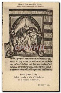 Postcard Old Municipal Library of Moulins Souvigny Bible Judith slice the hea...