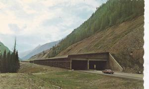 Highway Snow Sheds In The Rogers Pass Section Of The Trans-Canada Highway, Ca...