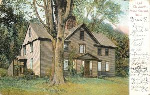 Concord MA Big Tree At The Louisa May Alcott Home~1907 Postcard