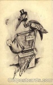 Artist Cobb Shinn, Baby Birth Postcard Post Card