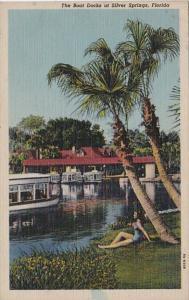 Florida Silver Springs The Boat Docks 1952 Curteich
