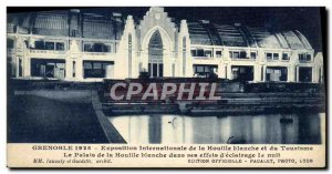 Old Postcard Grenoble International of white coal and Tourism Palace coal Exh...
