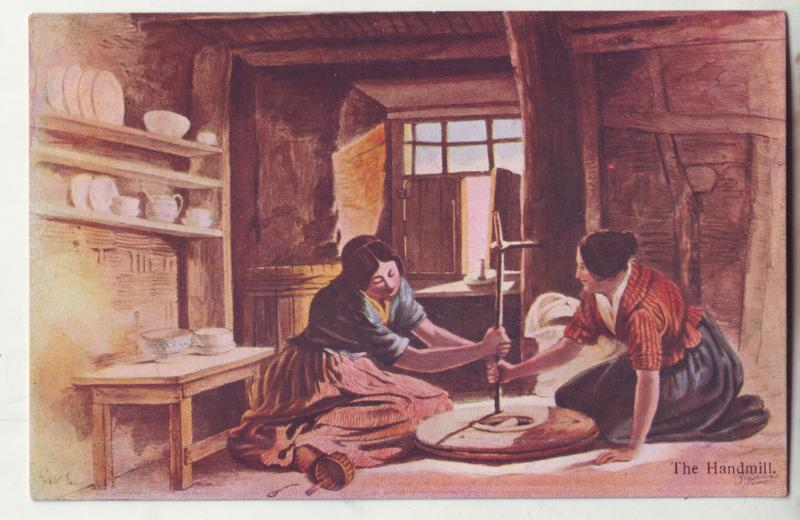 P932 scottish mcian,s highland series art 2 woman the handmill working