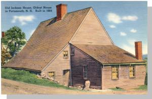 Portsmouth, New Hampshire/NH Postcard, Old Jackson House