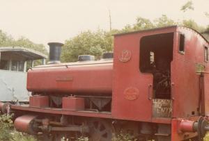 Industrial Panner Tank 0-4-0PT Class Train 1970s Photo