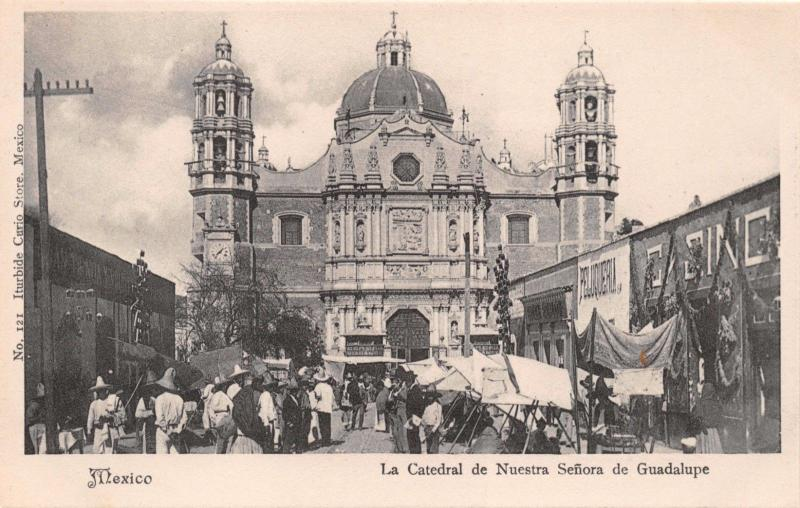 MEXICO~LA CATHEDRAL de NUESTRA Señora de GUADALUPE~ITURBIDE #121 PHOTO POSTCARD