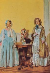 Carriage Dress Dresses Poke Bonnets Assembly Rooms Bath Fashion Postcard