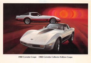 C17/ Chevrolet Corvette Advertising Postcard Chrome Muscle Car 1982 Coupe 9