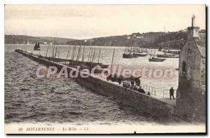Old Postcard Douarnenez The Mole