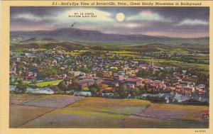 Tennessee Birds Eye View Of Sevierville Great Smoky Mountains In Background C...
