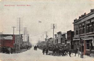 Main Street in Scotville Michigan Antique Postcard L646